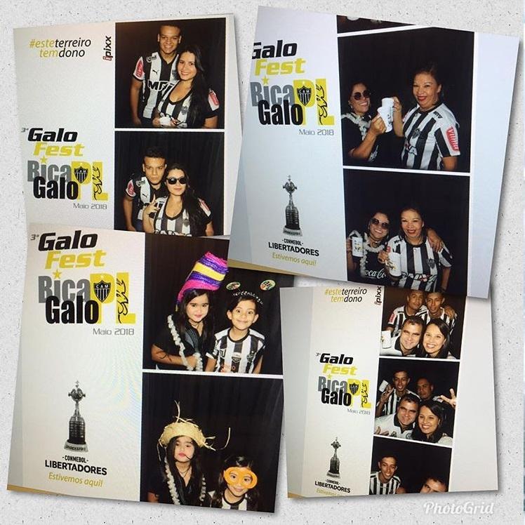 EVENTO GALO ATLETICO MG ATLETICO GALOFEST CAMPEAO CABINE KBINE TOTEM FOTO INSTANTANEA IPIXX BH BELO HORIZONTE MG MINAS MAIO 2018